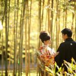 京都らしい竹林での前撮り