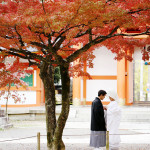 紅葉のきれいな今宮神社で前撮り