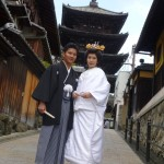 京都の八坂の塔での和装前撮り
