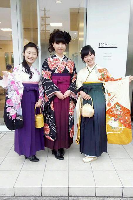 卒業式 袴の着付け