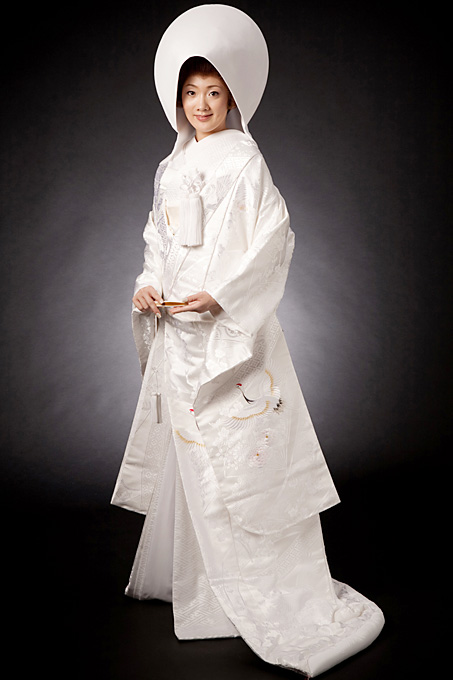 白無垢と綿帽子