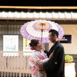 結婚式前撮り 京都の小路にて和装撮影
