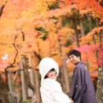紅葉の季節の京都前撮り