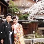 桜の季節の和装前撮り
