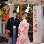桜の季節の京都前撮り