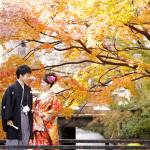 紅葉の京都で和装前撮り