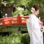 今宮神社で白無垢を着て結婚式の前撮り撮影