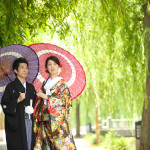 京都・東山白川での和装前撮り
