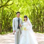 京都府立植物園にてウェディングドレスで前撮り