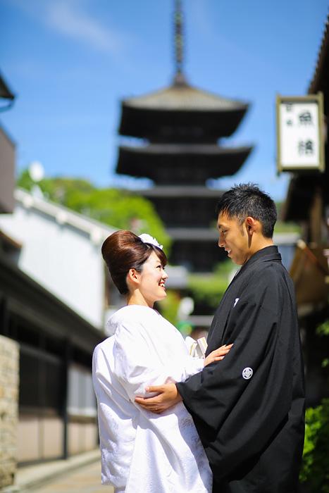 京都の五重塔での前撮り