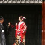 赤い糸を使った京都前撮り