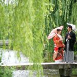 京都の東山白川コースにて涼しげな和装前撮り