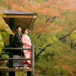 京都府立植物園にて紅葉の前撮り
